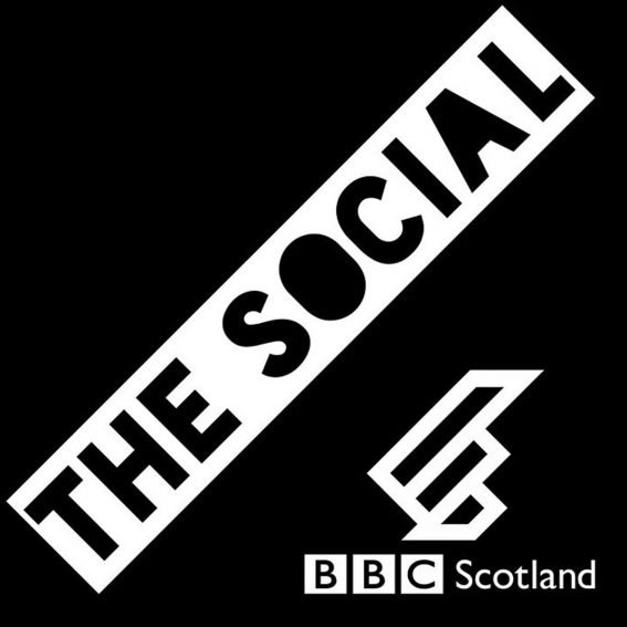 Logo for BBC The Social: black and white image that reads THE SOCIAL, BBC SCOTLAND