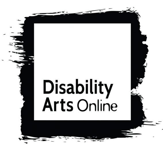 Black and white logo: Disability Arts Online