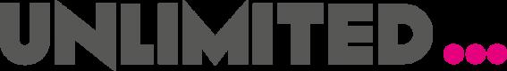 Logo: Unlimited in block black letters followed by pink ellipses