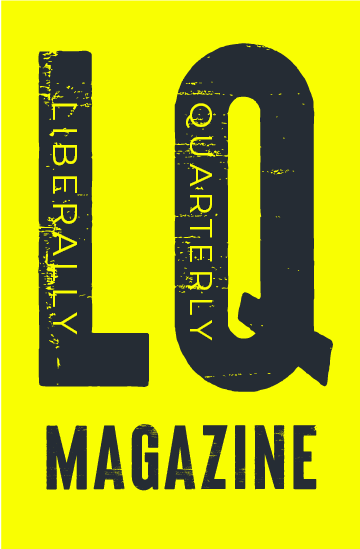 Liberally Quarterly Magazine logo: bold black letters on a yellow background